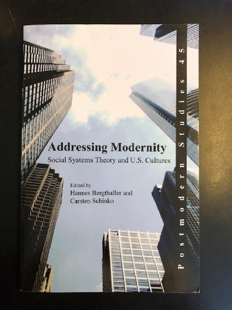 Image for Addressing Modernity: Social Systems Theory and U.S. Cultures. (Postmodern Studies)