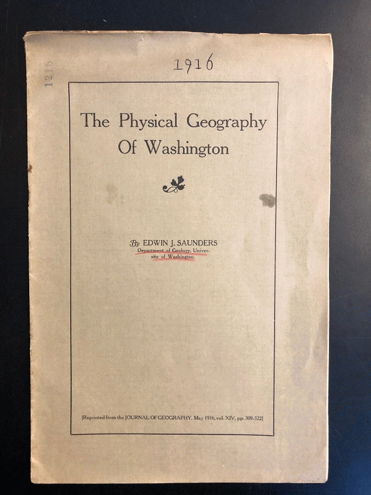 Image for The Physical Geography of Washington by Saunders, Edwin J.