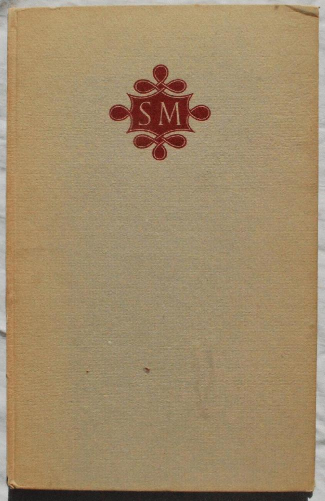 A Handlist of the Writings of Stanley Morison ... With Some Notes by Mr. Morison and Indexes by Graham Pollard.., John Waynflete Carter (1905-1975), compiler.