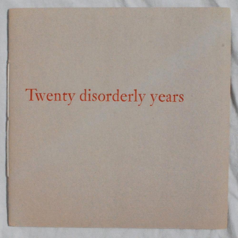 Twenty Disorderly Years., Jake Zeitlin (1902-1987).